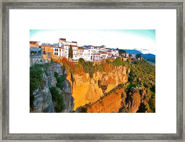 Framed Print featuring the photograph Life On The Edge by HweeYen Ong