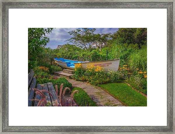 Lifeboat Seating Framed Print