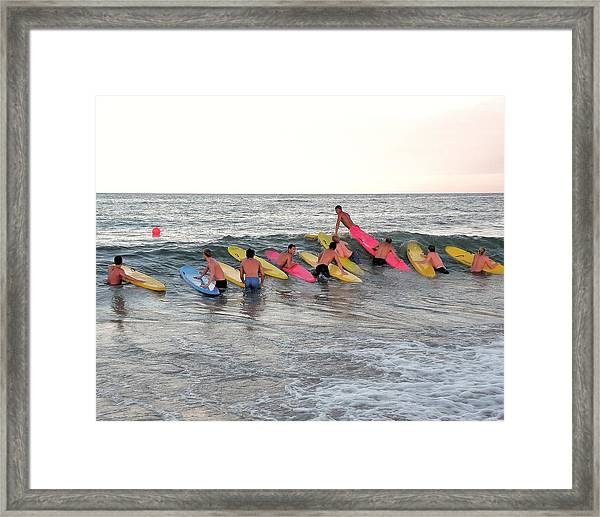 Lifeguard Competition Framed Print