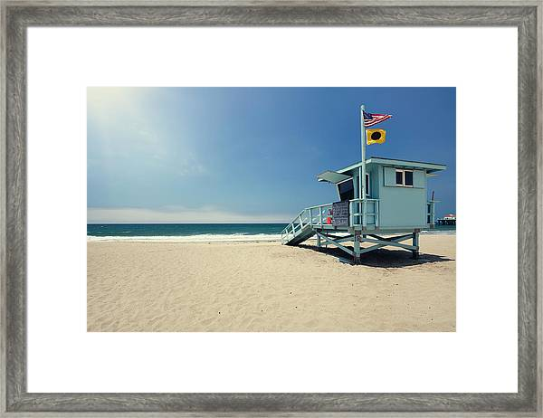 Lifeguard Hut Framed Print
