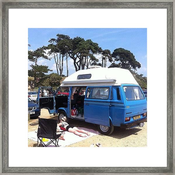 Life's A Beach #camper #vw #vwcamper Framed Print