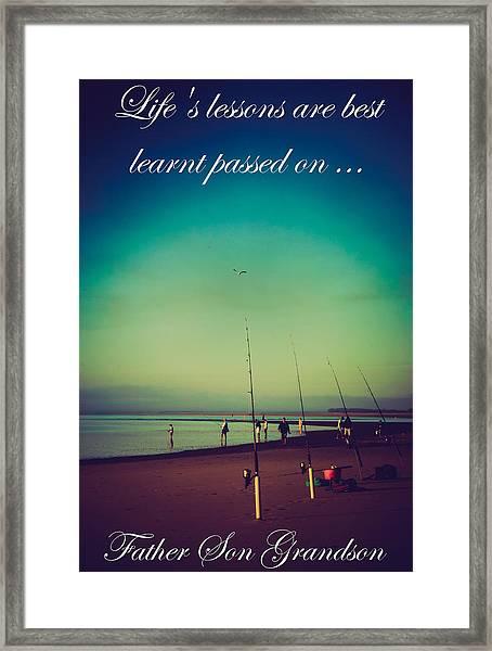Life's Lessons Framed Print