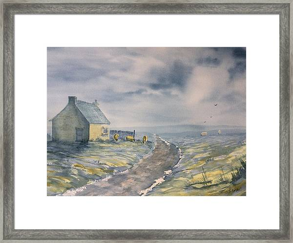 Lifting Mist At Trough House In Glaisdale Framed Print