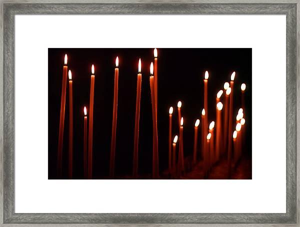 Light A Candle Say A Prayer Framed Print