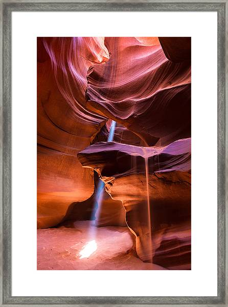 Light Erosion Framed Print