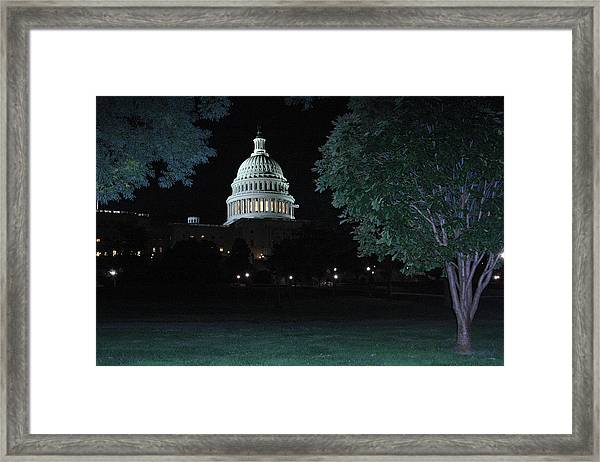 Light In The Capitol Framed Print by Frank Savarese