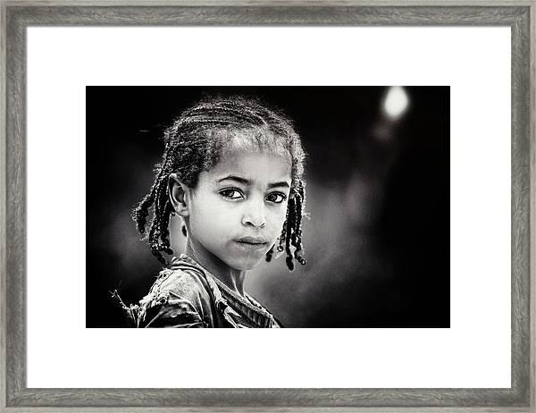 Light In The Dark Framed Print by Piet Flour