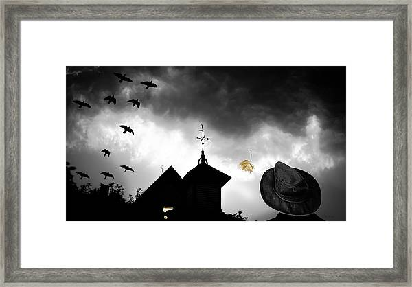 Light In The Window Framed Print