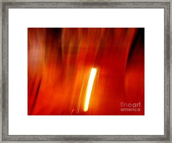 Light Intrusion Framed Print