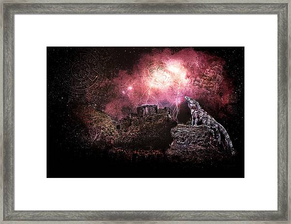 Light Of The Maya Framed Print