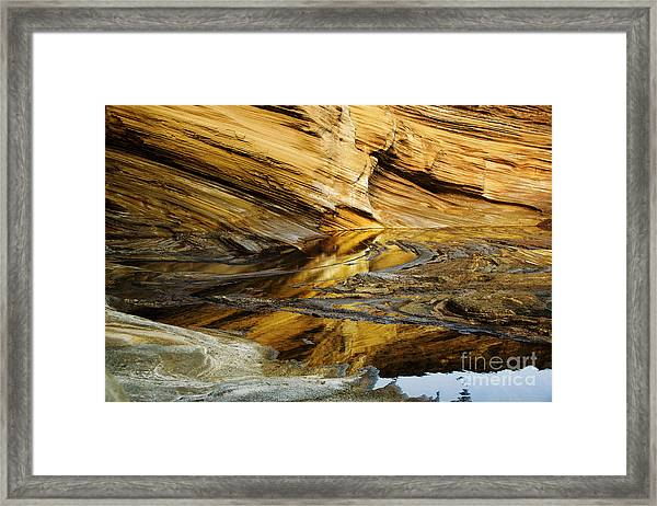Light On Sea Cliffs Framed Print