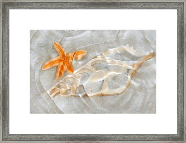 Light Patterns In The Sand Framed Print