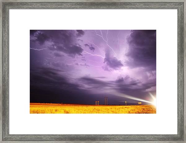Light Show Over Yorkton Framed Print