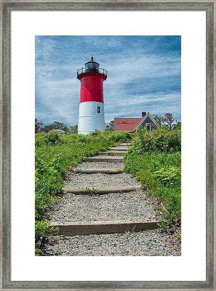 Light Steps Framed Print