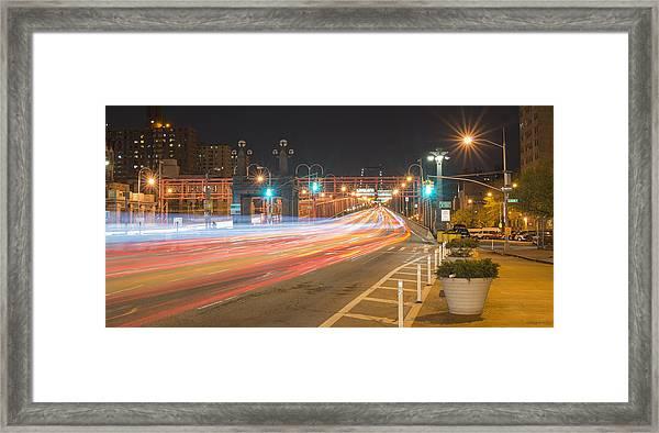 Light Traffic Framed Print