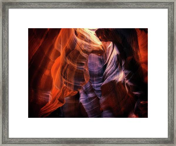 Light Up Above Framed Print by Randy Dietmeyer