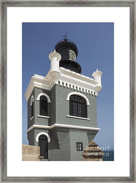 Lighthouse At El Morro Fortress Framed Print