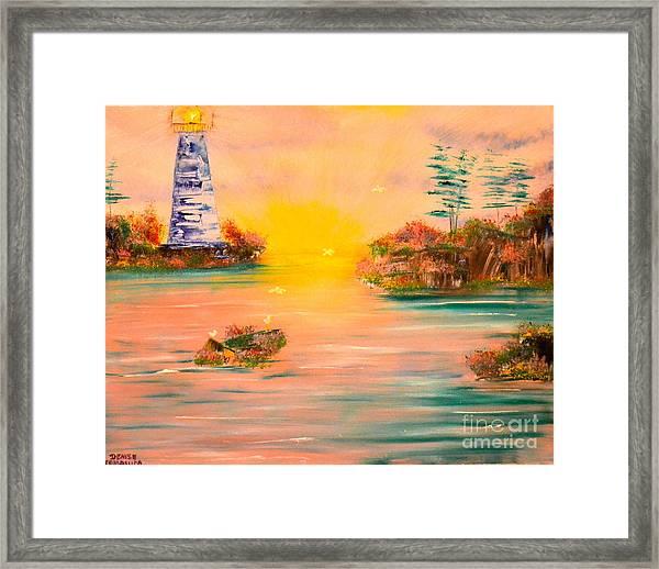 Lighthouse For Mom Framed Print
