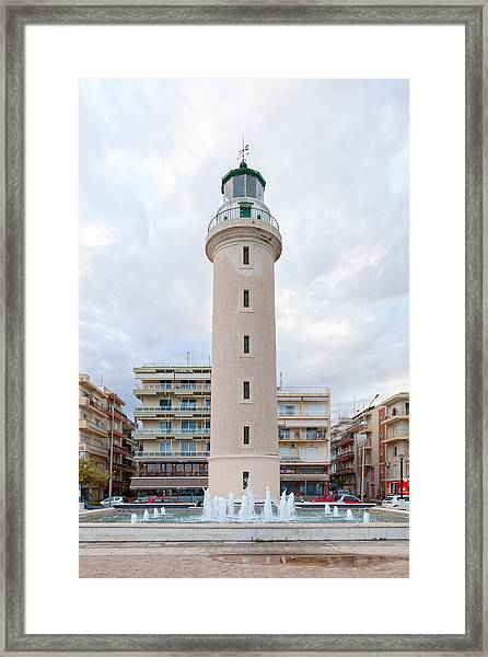 Lighthouse Of Alexandroupoli Framed Print by Gwengoat