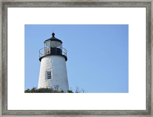 Lighthouse On Clear Day Framed Print