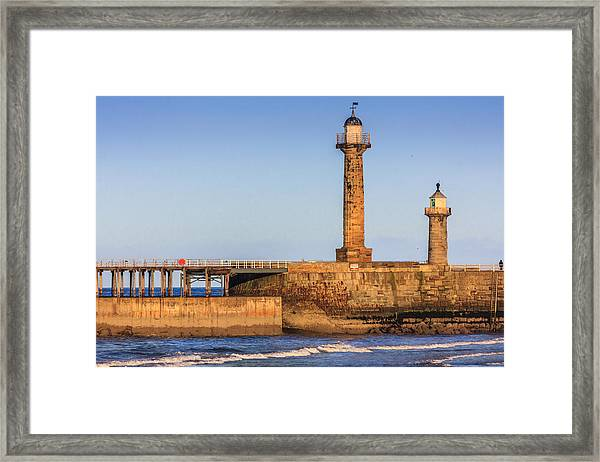 Lighthouses On The Piers Framed Print