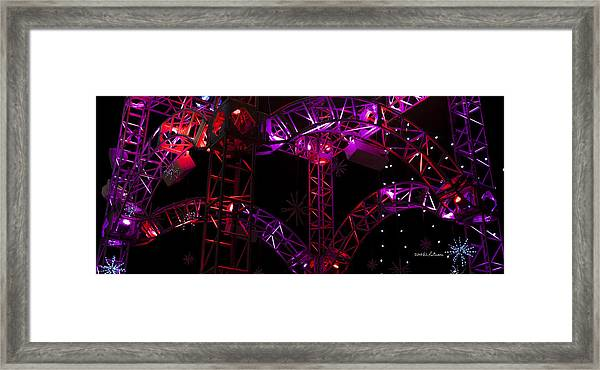 Lighting At Conagra Skating Rink Framed Print