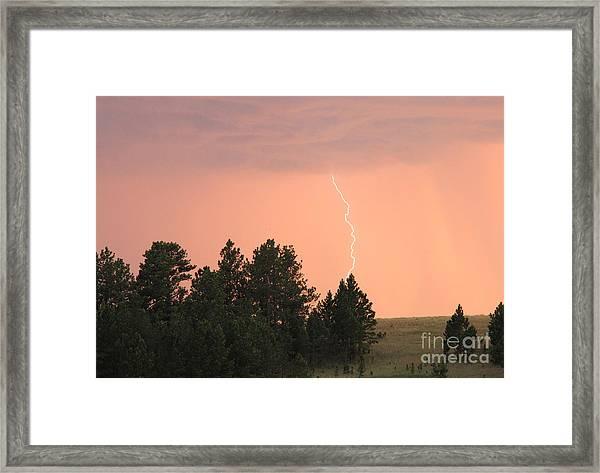 Lighting Strikes In Custer State Park Framed Print