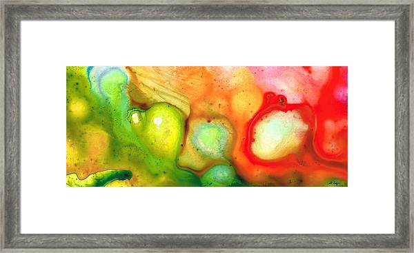 Lightness Of Being Abstract Art By Sharon Cummings Framed Print