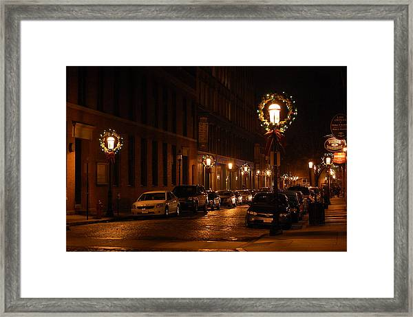 Lights Lowell Ma At Christmas II Framed Print
