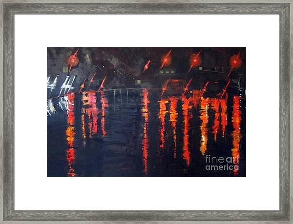 Lights Of The Night Framed Print