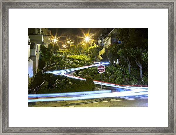 Lights On Lombard Framed Print