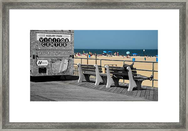 Like A Day At The Beach Framed Print