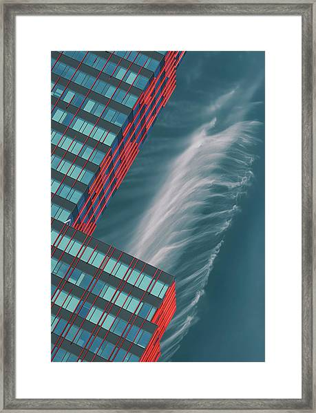Like A Feather In The Air. Framed Print by Greetje Van Son