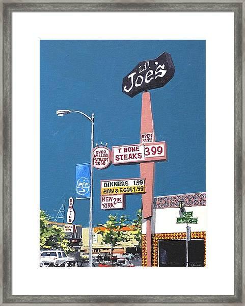 Li'l Joe's Framed Print by Paul Guyer