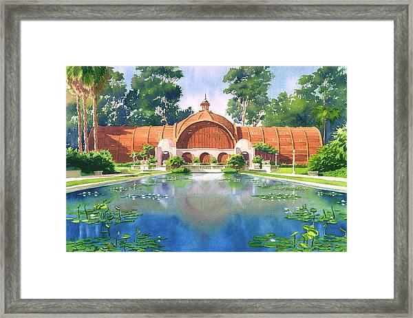 Lily Pond And Botanical Garden Framed Print