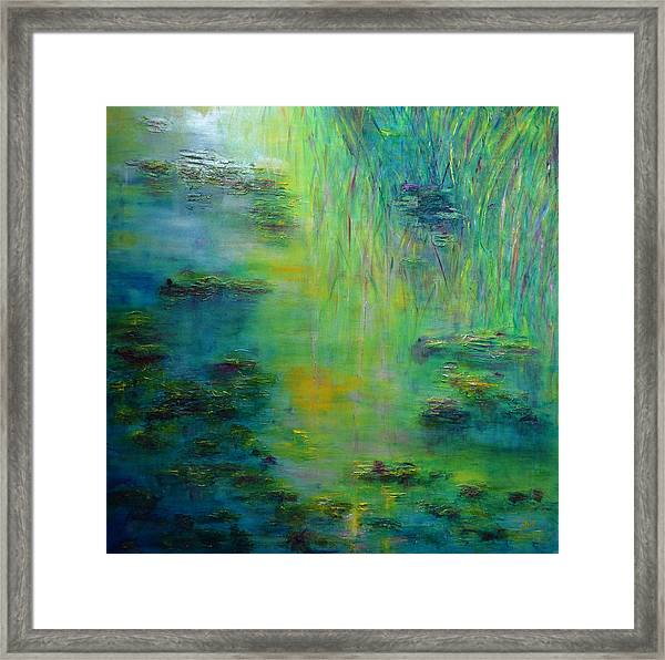 Lily Pond Tribute To Monet Framed Print