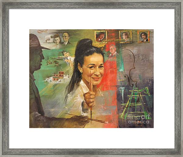 Lily Tolpo Biographical Portrait Framed Print