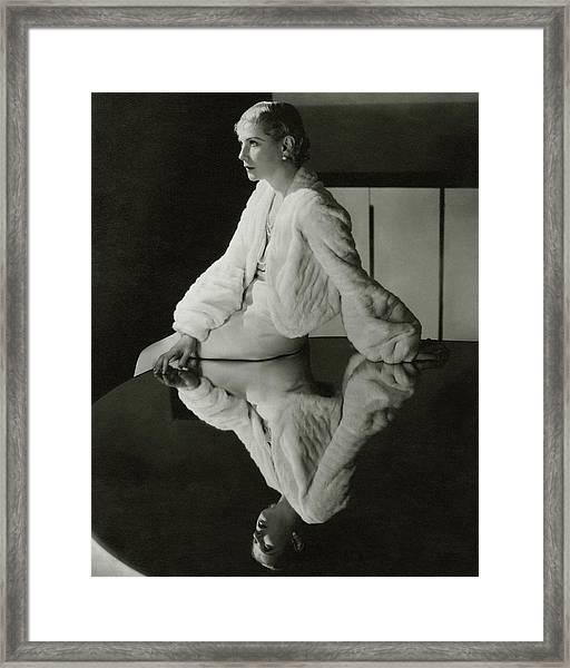 Lilyan Tashman Wearing A Bolero Framed Print
