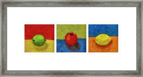 Lime Apple Lemon Framed Print