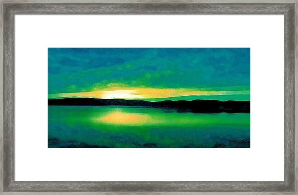 Lime Sunset Framed Print