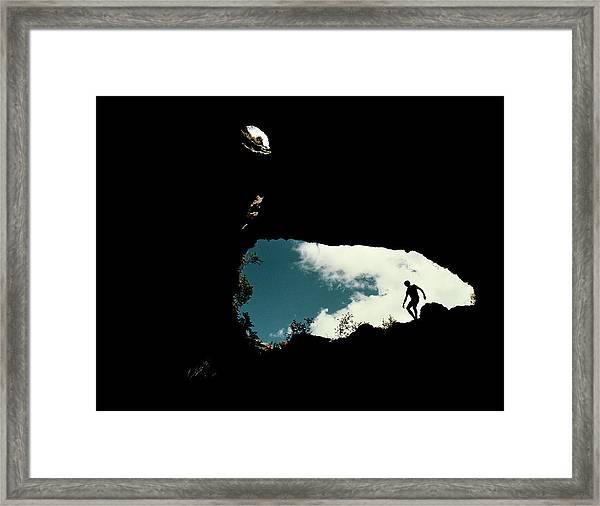 Limestone Cave Framed Print