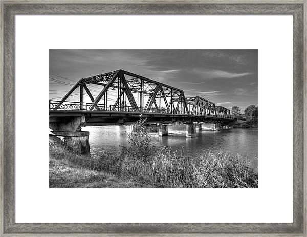 Lincoln Ave. Bridge Framed Print
