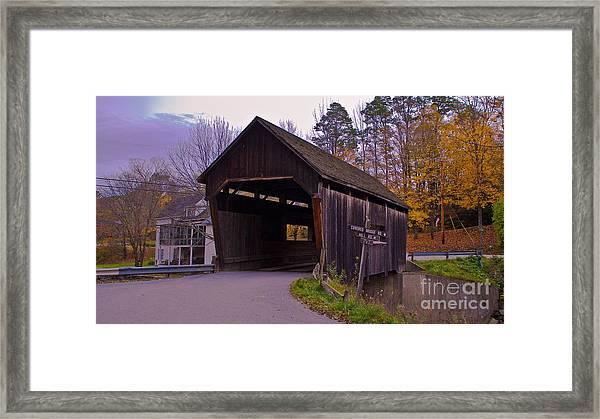 Lincoln Gap Covered Bridge.  Framed Print
