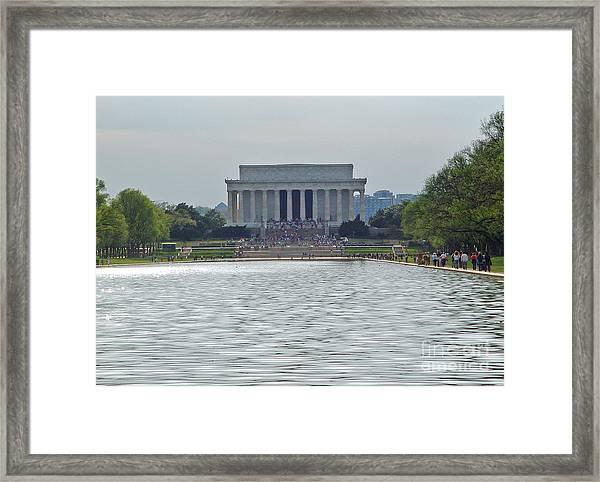 Lincoln Memorial 1 Framed Print