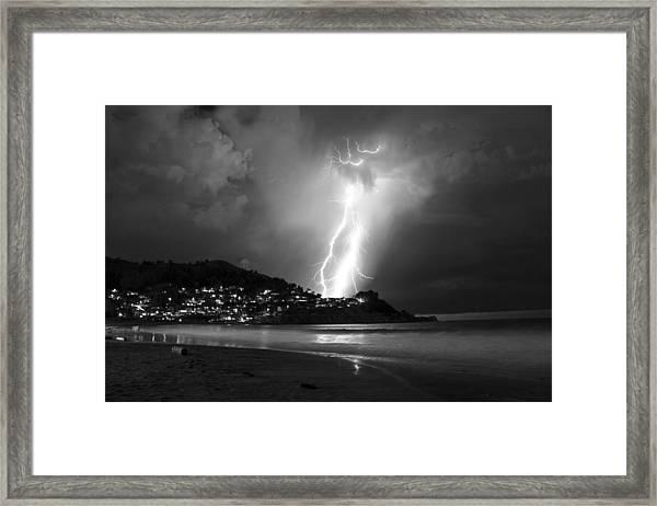Linda Mar Lightning Framed Print