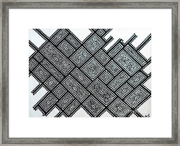 Line Art Framed Print