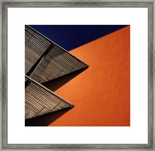 Lines And Shadows. Framed Print by Harry Verschelden