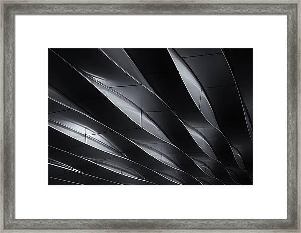 Lines In Motion Framed Print