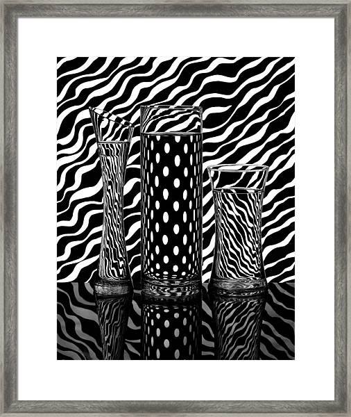 Lines Or Dots... Framed Print by Louis-philippe Provost