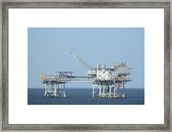 Linked Oil Platforms Framed Print
